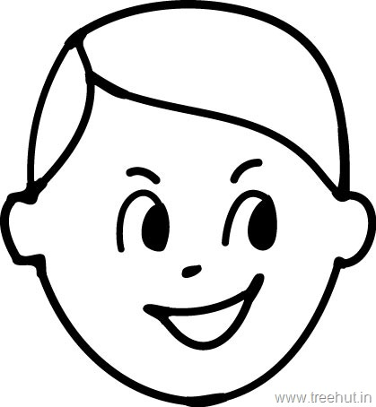 coloring book pages of childrens faces | Emotions Clipart or Facial Expressions Clipart - TreeHut.in