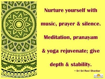 Quotes on meditation by sri sri ravi shankar