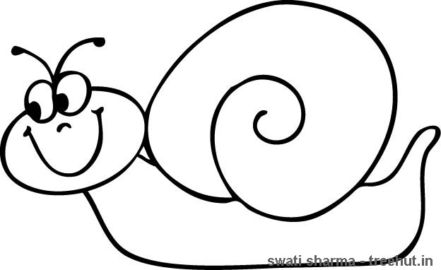 Snail coloring page-1 - TreeHut.in