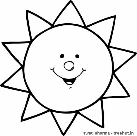 Bright image for sun printable