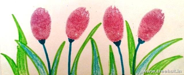 Art Ideas-4, Thumb Printing Ideas - TreeHut.in