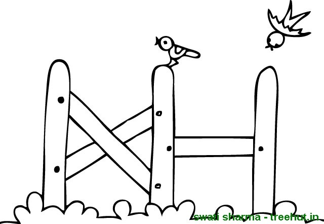Picket Fence Coloring Printables Coloring Pages