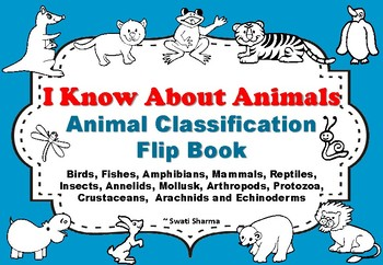 Animal Classification Flip Book, I know About Animals