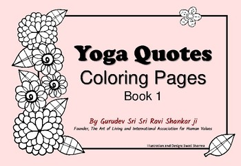 Yoga Quotes Coloring Pages 1, for Mindfulness