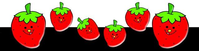 Smiling Strawberries Clip Art TreeHutin