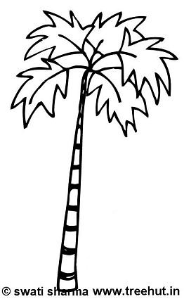palm tree coloring pages composed of sabal palm - Palm Tree Coloring Pages Print