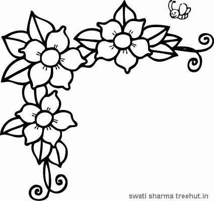 Jasmine Flower Colouring Pages page 2