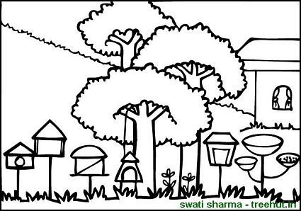 Background Coloring Pages Set 1
