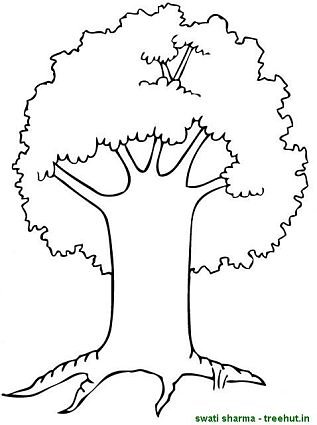 three trees coloring pages - photo#8
