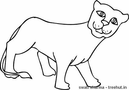 lioness coloring pages - photo#25