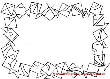 Frames Coloring Pages, Set 2 - TreeHut.in