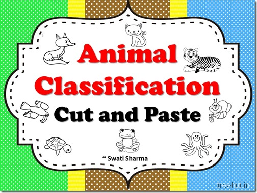 Animal Classification Cut and Paste