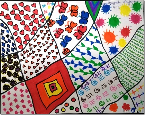 Pattern art, pop art by grade 4 students, art project (3)