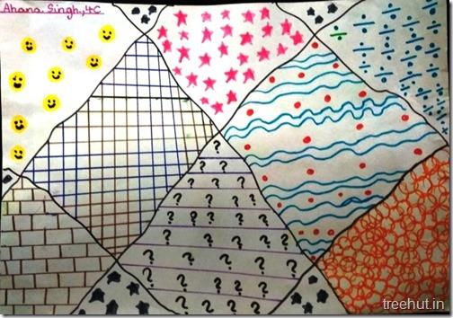 Pattern art, pop art by grade 4 students, art project (4)