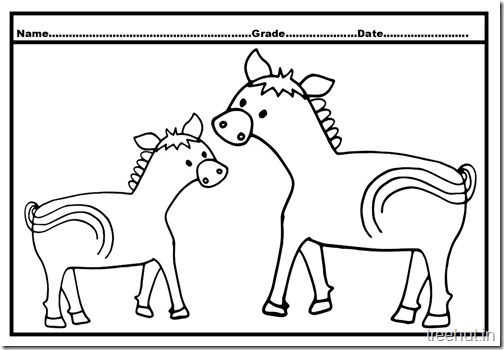 Horse Baby Colouring Pages  (5)