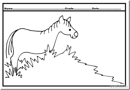 Horse Colouring Pages  (2)