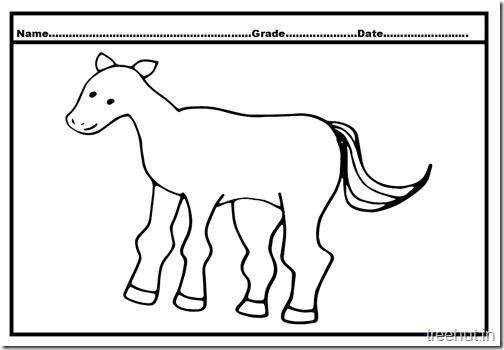 Horse Colouring Pages  (3)