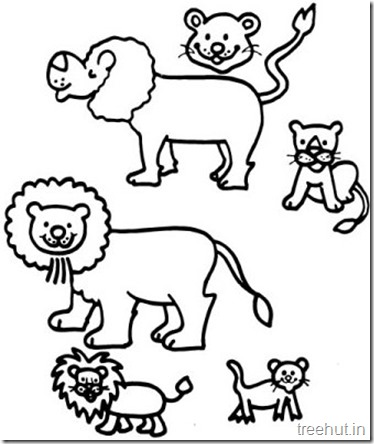 Printable Free Cute Lion Coloring Pages (1)