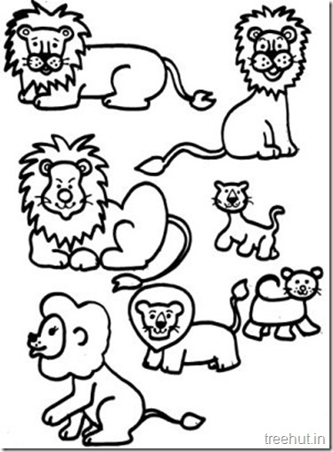 Printable Free Cute Lion Coloring Pages (2)