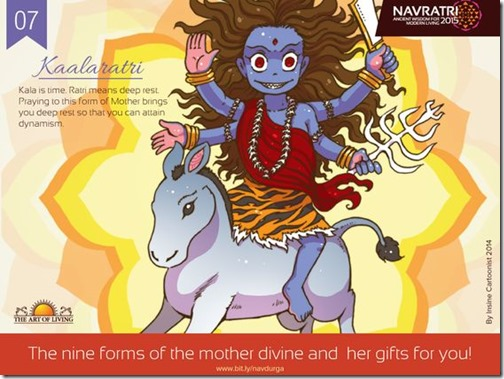 Durga maa, Art of Living Navratri (10)