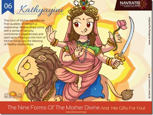 Durga maa, Art of Living Navratri (15)