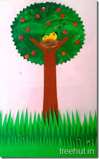 3D tree spring craft with birds