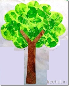 leaf printing tree craft for kids