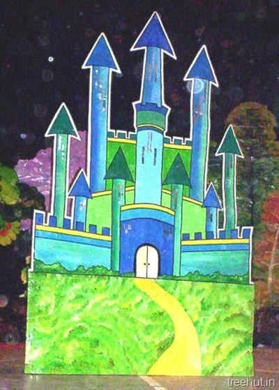 stage backdrops castle stage prop for school