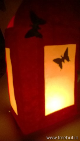 diwali-paper-lantern-craft project for kids
