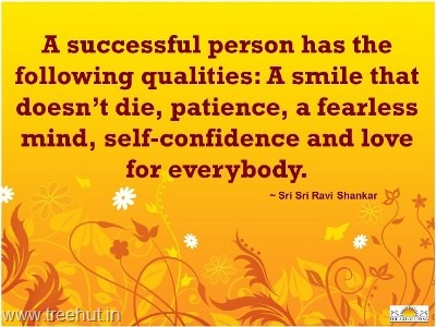 quote on successful person by-sri-sri-ravi-shankar