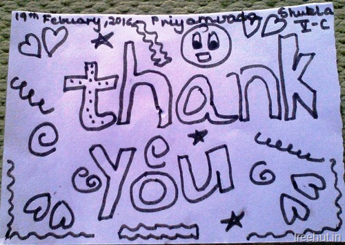 thank you notes by kids art