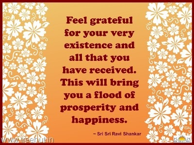 quote on gratitude by-sri-sri-ravi-shankar