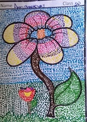 dot-art-flower by Avni Bharadwaj lmgc lko
