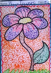 dot-art-flower by Hiya Tewari lucknow india