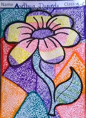 dot-art-flower by aadhya dwivedi