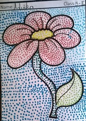 dot-art-flower by advika lmgc lko
