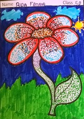 dot-art-flower by aida fatima lmgc lko
