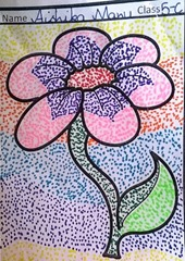 dot-art-flower by aishika manu lmgc lucknow