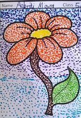 dot-art-flower by akriti misra lmgc lko