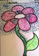 dot-art-flower by akshara