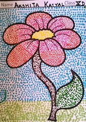 dot-art-flower by akshita katyal