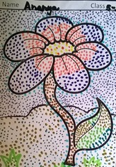 dot-art-flower by ananya lmgc lucknow