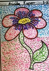 dot-art-flower by anisha kapoor