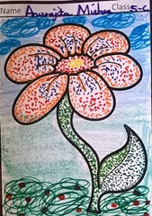 dot-art-flower by anurita mishra