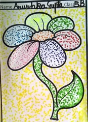 dot-art-flower by anusha gupta