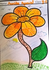 dot-art-flower by anushka agarwal