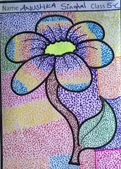 dot-art-flower by anushka singhal