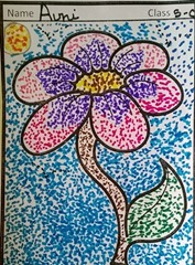 dot-art-flower by avni