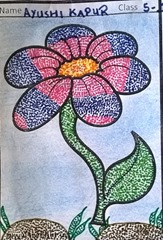dot-art-flower by ayushi kapur