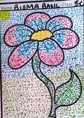 dot-art-flower by bisma basil lmgc lko